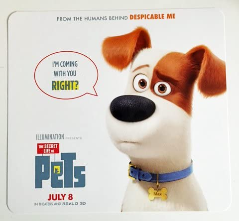 Amazon Com The Secret Life Of Pets 9 X10 D S Original Promo Movie Poster Card 2016 Games Entertainment Collectibles