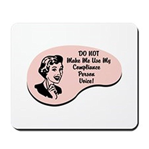 CafePress - Compliance Person Voice Mousepad - Non-slip Rubber Mousepad, Gaming Mouse Pad