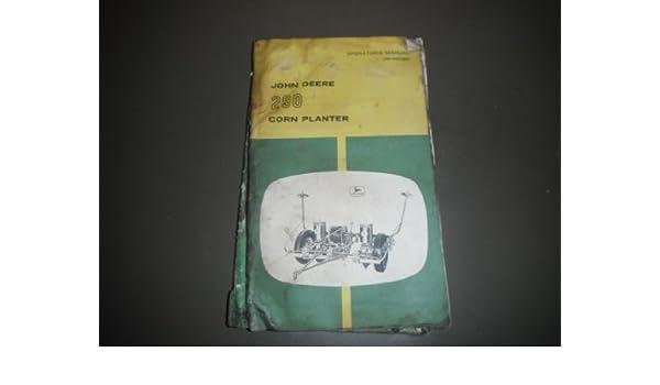 John Deere 290 Corn Planter Oem Operators Manual John Deere Manuals