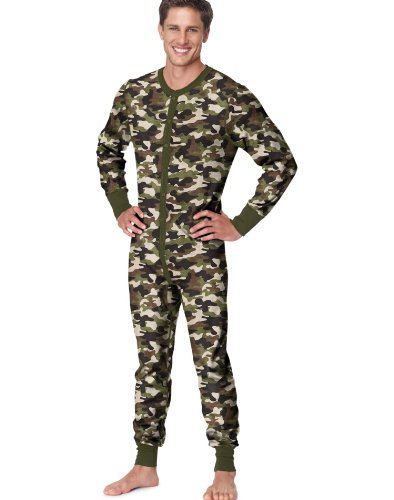 Hanes X-Temp Men`s Thermal Union Suit, 14530, 2XL, Camo