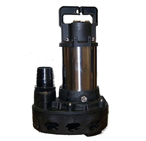 Professional 5500 GPH Stainless Steel Solids Handling Submersible Pond & Waterfall Pump