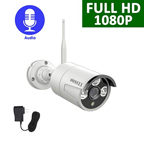 Outdoor 1080P Security Camera with Two-Way Audio,OOSSXX IP67 Waterproof WiFi Camera,Wireless Surveillance Camera with Night Vision