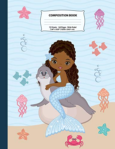 Composition Book: Wide Ruled African American Mermaid Composition Notebook 3, Mermaid Notebooks and Journals, Black Girl Notebooks, Notebook, African ... Volume 3 (Mermaid Composition Notebooks) por x Destiny, Eden