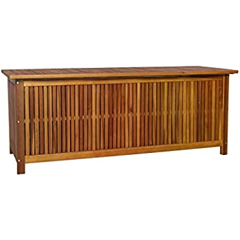Amazon Com Festnight Wood Outdoor Storage Bench With 2
