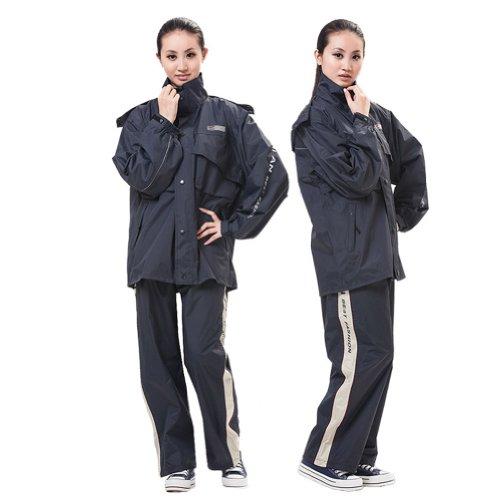hombre lluvia motocicleta y impermeables marino pantalones mujer Aiqi Peach de azul dnC8pdFqY