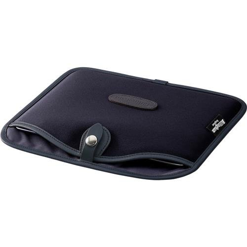 Billingham Slip Case for iPad or Similar-Size Tablets, Black Canvas with Black Leather Trim