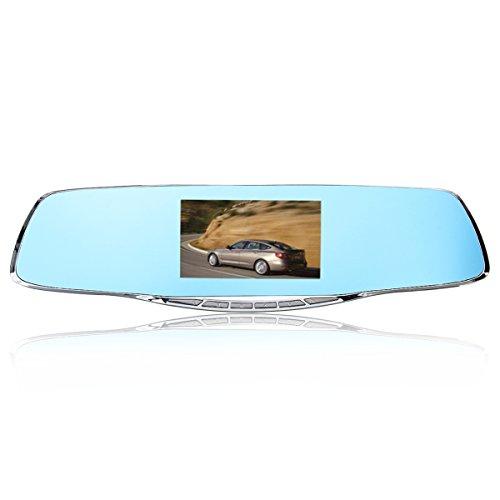 F2C double objectif 10,9cm HD 1080p Enregistreur Caméra de voiture Rétroviseur Dash Caméra G-Sensor