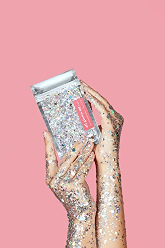 Silver Holographic Chunky Cosmetic Glitter (15g) - Great for Festivals, For Use on Face, Body, Hair, and Nails - by All Glown Up by All Glown Up (Image #5)