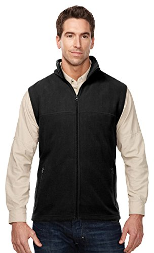 Tri-Mountain Expedition Midweight Micro-Fleece Vest, 3XL, BLACK ()