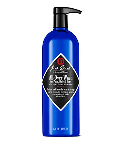 Jack Black All-Over Wash For Face, Hair & Body, 33 fl. oz. (Conditioning Shave Lube Beard)