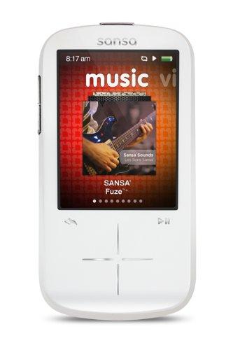 amazon com sandisk sansa fuze 8gb mp3 player white with 2 4 inch rh amazon com Sansa Media Converter sansa fuze 8gb manual