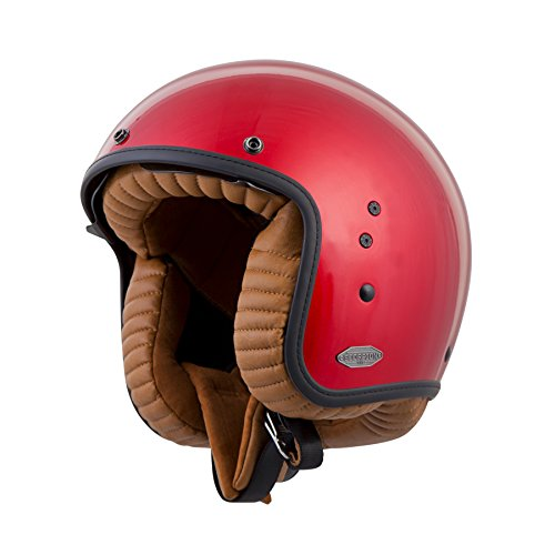 ScorpionExo Belfast 3/4 Open Face Helmet (Candy Red, Large)