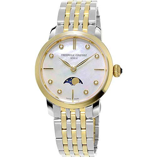 Frederique Constant Geneve Slimline Ladies Moonphase Quartz FC-206MPWD1S3B Wristwatch for women