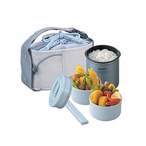 Zojirushi Mini Stainless Thermal Lunch Box, Metallic Blue