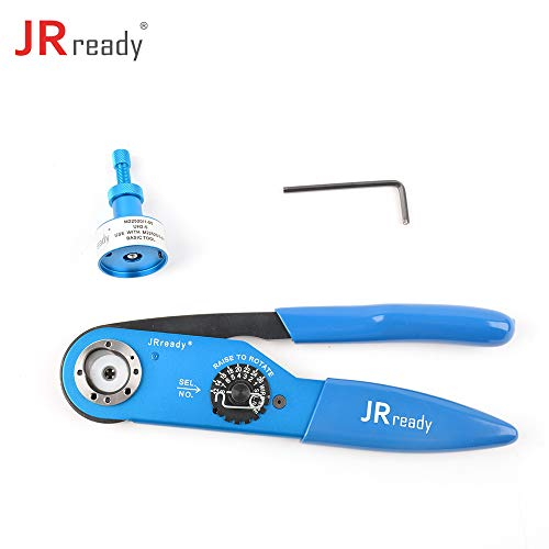 JRready ST1021: YJQ-W2A Heavy Duty Crimpers Manual Crimping Tool Frame & Adjustable UH2-5 Positioner Cable Crimper Kit 12-26AWG