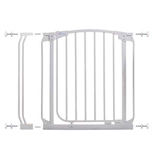 Dreambaby Chelsea 28-35.5in Auto Close Security Gate w/Stay Open Feature- White