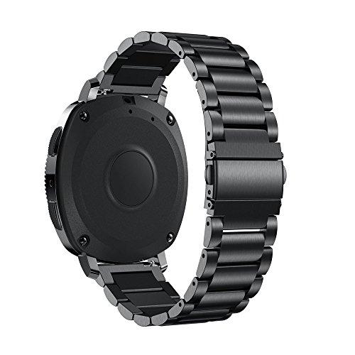 ☀️Modaworld Pulsera de Acero Inoxidable Correa de Reloj Inteligente Banda Muñequera para Samsung Gear Sport Smartwatch (Plata): Amazon.es: Deportes y aire ...