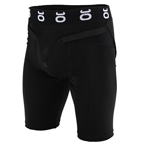 Tenacity MMA Black Compression Shorts W/ Guardian Groin Cup - Medium by Tenacity