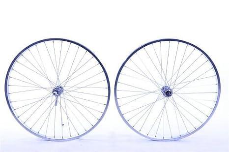 Par 26 MTB ruedas para sola velocidad conversión de montaña bicicletas, motos etc con llantas cromadas: Amazon.es: Deportes y aire libre