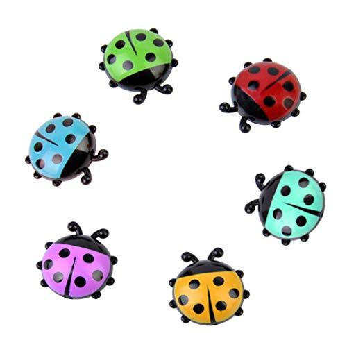 MChoice 6Pcs Mini Ladybug Fridge Magnets Creative Home Decor Cute Cartoon Refrigerator Magnetic Stickers