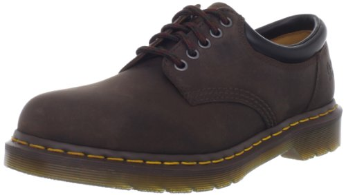 Dr. Martens 8053 5 Eye Padded Collar Shoe, Gaucho Crazy Horse, 10 UK/11 US Men - Mens 5 Eye Padded Collar