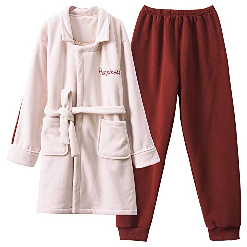 De Noche Mujer Vestidos Conjunto Pijamas Grueso Pareja Cálido Otoño Larga Manga Dukunkun Largos Servicio wUAqCq