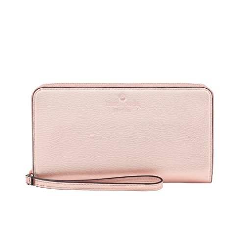kate spade new york KSIPH-018-SRG  Zip Wristlet (Fits Most Mobile Phones) - Saffiano Rose - Gold Kate Rose Spade