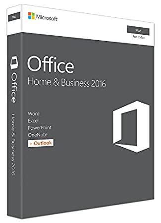 Microsoft Office Home and Business 2016 for Mac Product Key Card (1 User)