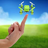 COOCHEER Hubsan H111 Q4 RC Mini Drone Nano 4-Channel 6 Axis Gyro RC Mini Quadcopter Drone with 2.4Ghz Radio System Mode 2 RTF for Kids (Green)