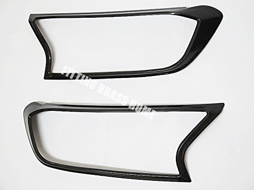 NEW CARBON HEADLIGHT COVER LAMPS TRIM FOR FORD RANGER MINOR CHANGE MK2 T6 2015 2016
