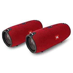 JBL Xtreme Portable Wireless Bluetooth Speakers - Pair (Red)