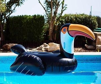 Flotador Gigante en Forma de Tucán Para la Playa o Piscina. Tucán Flotador Gigante. Ideal Para Playa o Piscina: Amazon.es: Juguetes y juegos