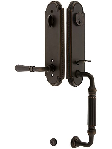 Orleans Style Tubular Handleset In Oil Rubbed Bronze With Right Hand Levers And 2 3/8