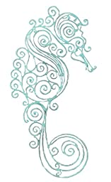 Young\'s Sea Horse Metal Wall Decor, 18.5-Inch