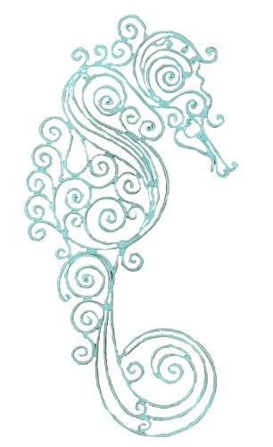 Youngs-Sea-Horse-Metal-Wall-Decor-185-Inch