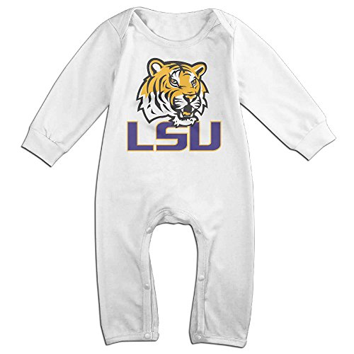 [Dadada Babys LSU Tiger Logo Long Sleeve Outfits 24 Months] (Lsu Mascot Costume)