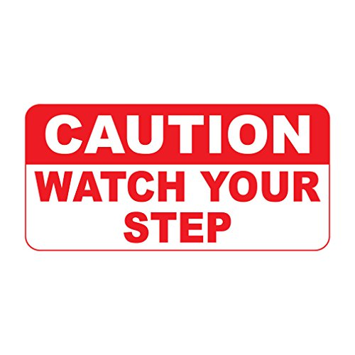 Caution Watch Your Step Retro Vintage Style Sign Vinyl Sticker Decal 8