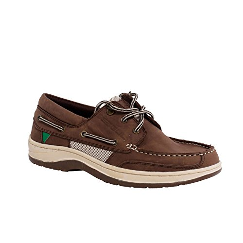 Gul Falmouth Leather Deck Shoe in TAN DS1002