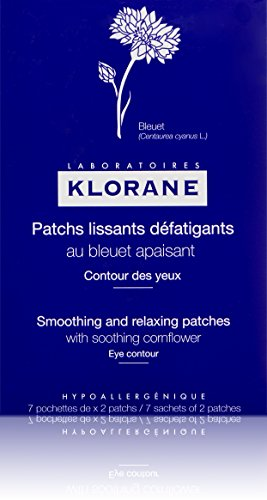 Klorane Smoothing and Relaxing Patches with Soothing Cornflower for Puffy Tired Eyes, Soothing Eye Masks