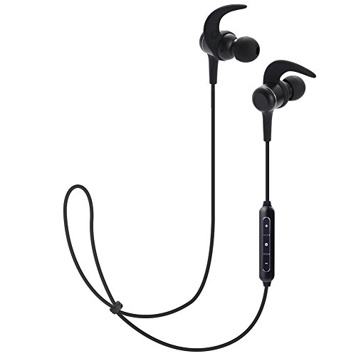 KingYou Earphones Bluetooth Wireless Headphones Bluetooth Earbuds with Microphone for Sport Jogging Workout Gym Running 8 Hours (BT002, Black)