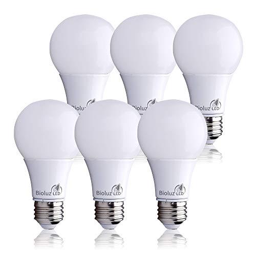 Bioluz LED 40 Watt LED Light Bulbs, E26 40 Watt Light Bulb Replacement, A19 LED Bulb Uses Only 6 Watts, Warm White 2700K…
