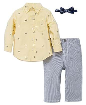 Little Me Boys' Button up Woven Pant Set (2T)