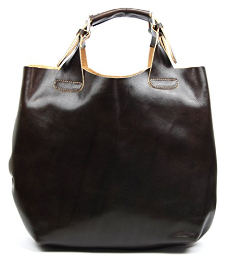 Oh My Bag Numero 3 - Leather Shoulder Bag For Compact Dark Brown Woman