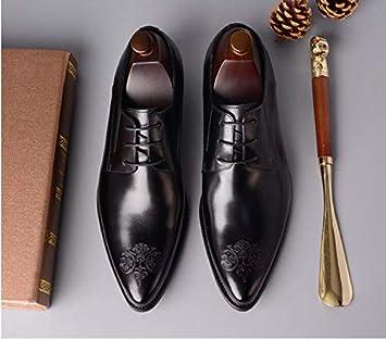 84944a8746 LOVDRAM Zapatos De Cuero para Hombre Zapatos De Vestir para Hombres Negro  Marrón Diseñador De Lujo