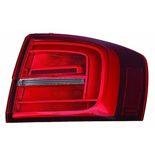 Fits Volkswagen Jetta Sedan/Hybrid 2015-2016 Outer Tail Light Assembly LED Passenger Side (NSF Certified) VW2805118N