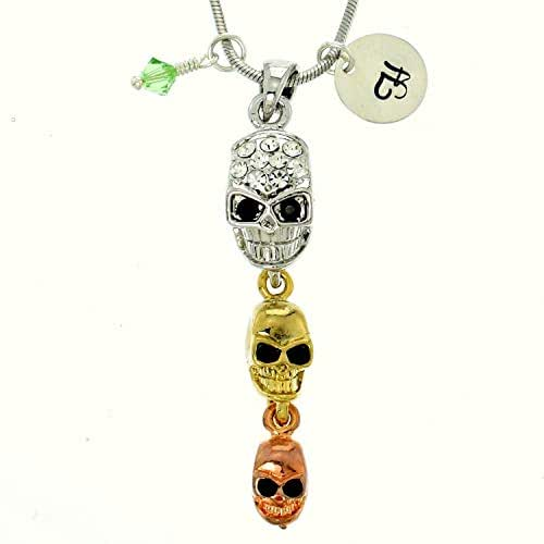 Sparkling Crystal Block Ring Chandelier: Amazon.com: Personalized Three Colors Skull Pendant
