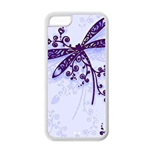 Fashion dragonfly Personalized Iphone 5c Rubber Silicone Case Cover