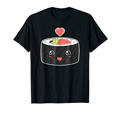 Sushi Roll Love Cute Foodie Retro Vintage Japan T-Shirt