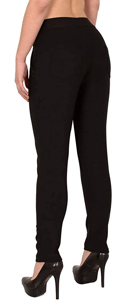 J189 ESRA Damen High Waist Hose Stretch R/öhrenhose High Waisted Hose bis /Übergr/ö/ße 48 52 50