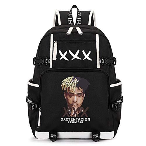 Xxxtentacion Backpack Bag Cosplay School Black Oxford Cloth Bags (Color 1)